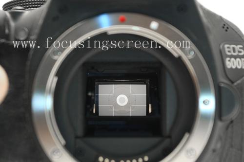 Canon EOS 600D/650D/700D/750D/760D/800D/77D Focusing screen